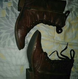 Mossimo Brown Combat Boots